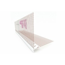 PLASTIC ANGULAR PROFILE WITH GLASS MESH AND CANOPY